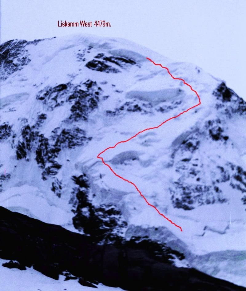severná stena Liskammu