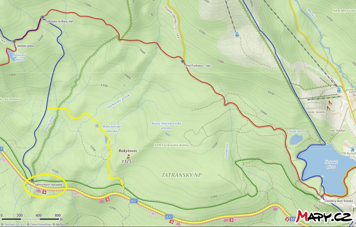 mapka_-_Mapy.cz,_žltou_dokreslený_náučný_chodník,_v_žltom_krúžku_štart_i_cieľ