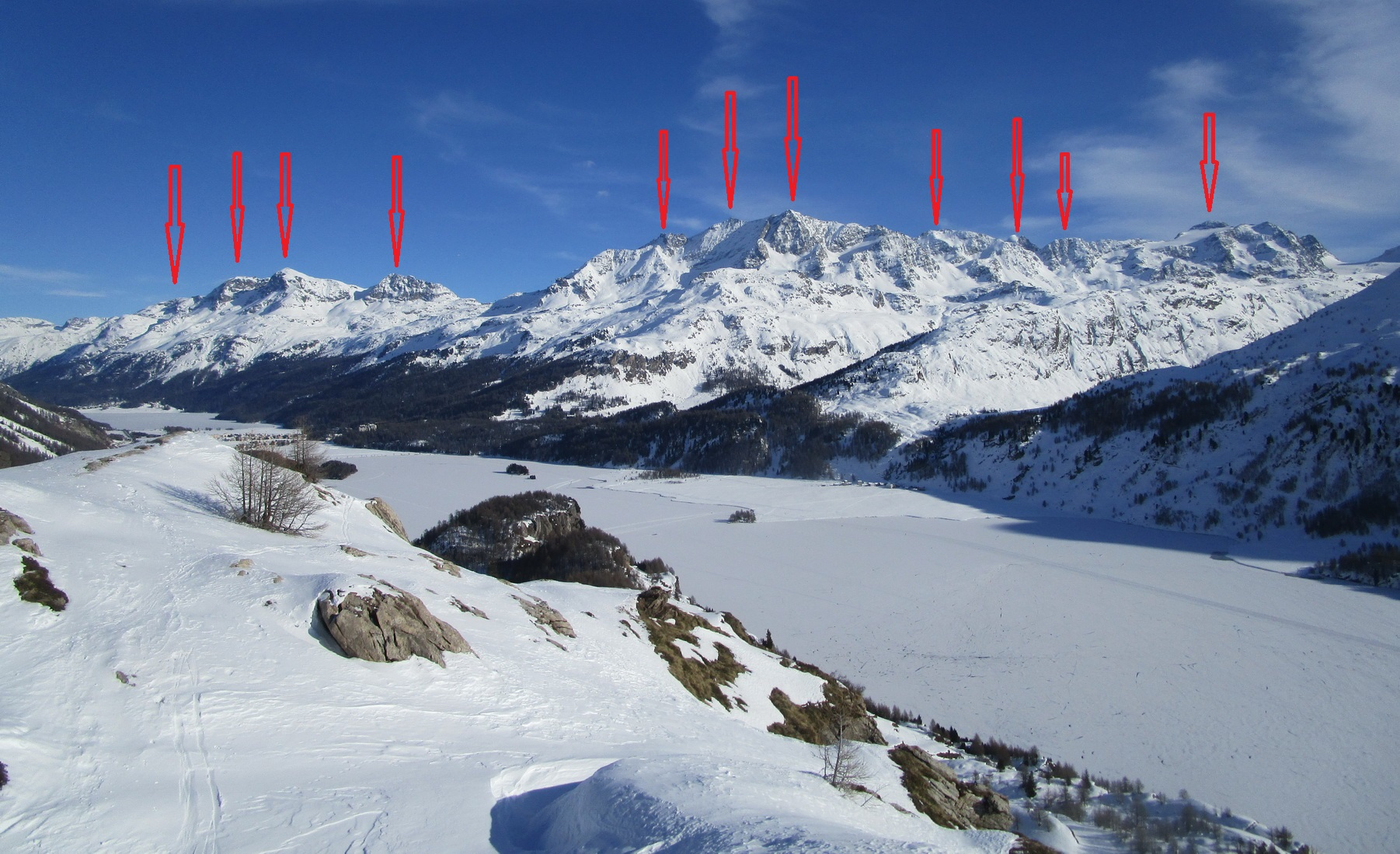 zľava:_Mezdi,_San_Gian,_Surlej,_Arlas,_Corvatsch_Bergstation,_Murtel,_Corvatsch,_Sgrischus,_Roseg,_Piz_Lei_da_Alv,_Caputschin