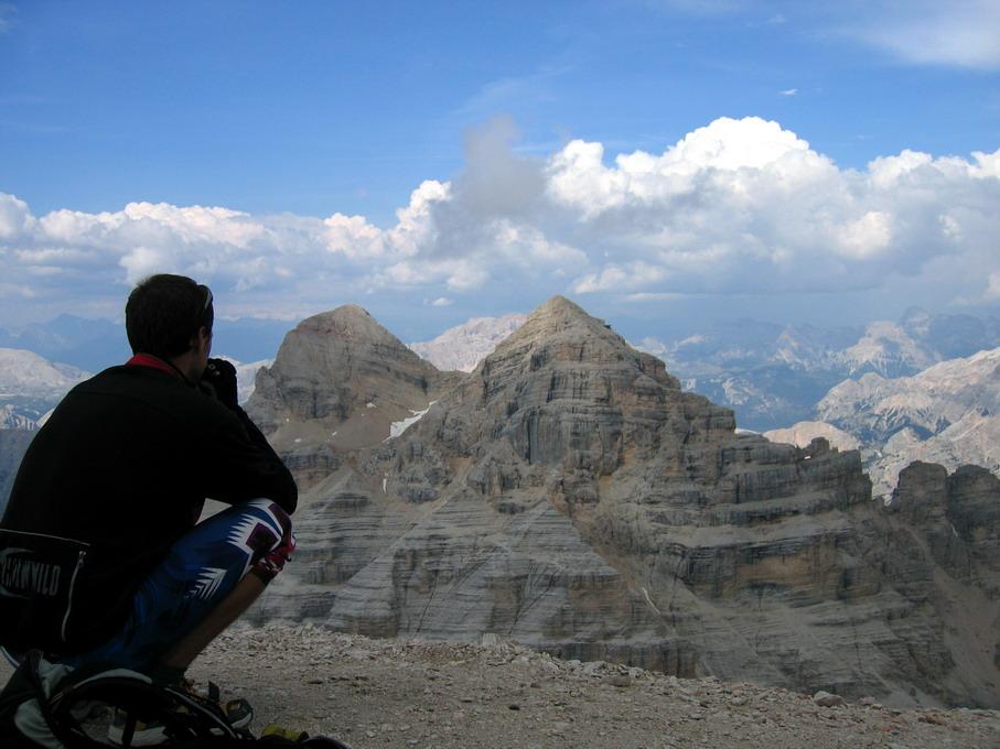 pohľad z vrchola T.Rozes na Dentro a Mezza