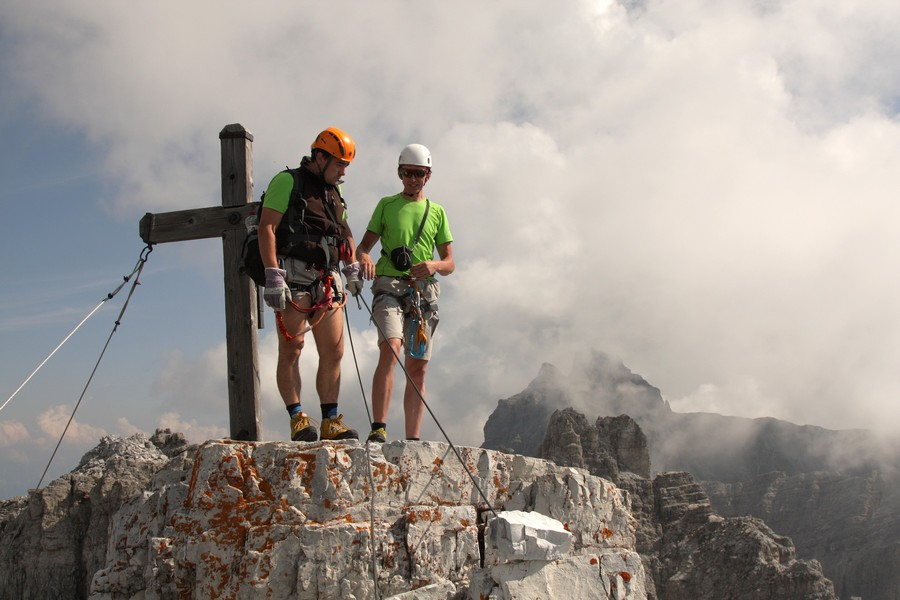 Na_vrchole,_vzadu_Kirchdachspitze