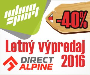 Likvidácia Directalpine Jar-Leto 2016 + Veľká jesenná sútaž s AdamSport